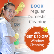 Request Regular Cleaning and Get £10 Off Window Cleaning