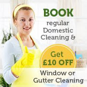 Request Regular Cleaning and Get £10 Off Window or Gutter Cleaning