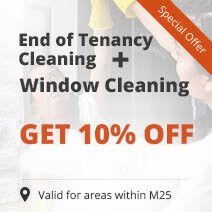 End of Tenancy Cleaning + Window Cleaning = 10% OFF both