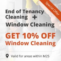 End of Tenancy Cleaning + Window Cleaning with 10% OFF