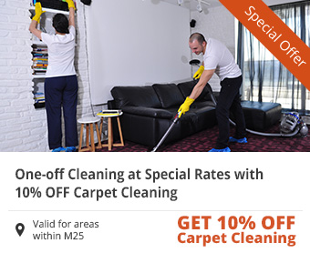One-off Cleaning at Special Rates with 10% Off Carpet Cleaning
