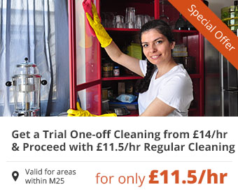 Get a Trial One-off and Proceed with Regular Cleaning for only £12/hr