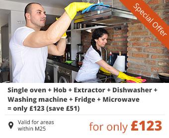 Single oven + Hob + Extractor + Dishwasher + Washing machine + Fridge + Microwave = only £123