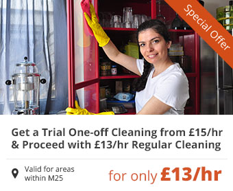 Get a Trial One-off and Proceed with Regular Cleaning for only £13/hr